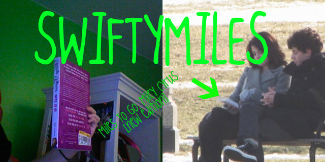 Nick and Selena reading Miles to go by miley cyrus?