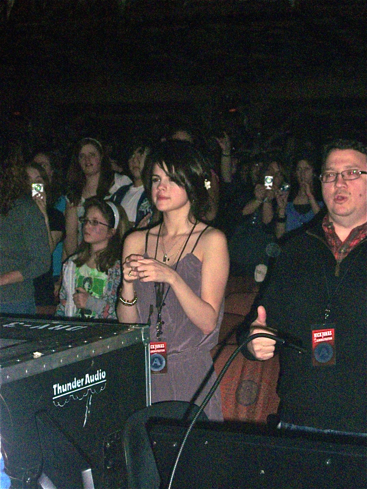 girlfriend Selena Gomez attended Nick's concert!