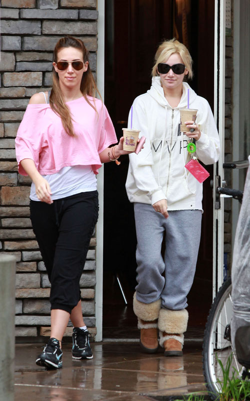 Haylie Duff & Ashley Tisdale go out for coffee in Los Angeles