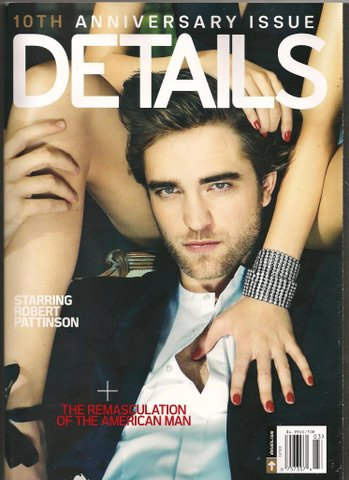 Robert Pattinson's Details Magazine Cover!!