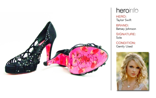 Bid on Taylor Swift's Shoes! (INFO UNDER)