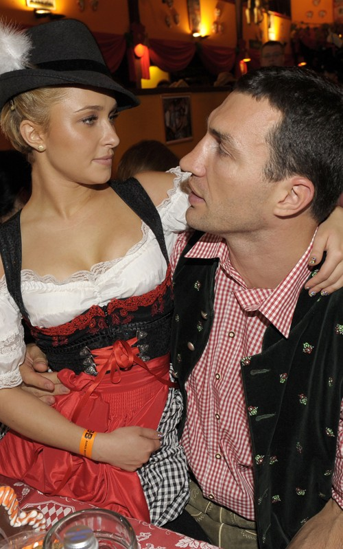 Hayden Panettiere: Oktoberfest with Wladimir (more photos under the cut)
