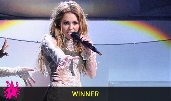 Miley Cyrus: Virgin Media Music Awards – Best Video!