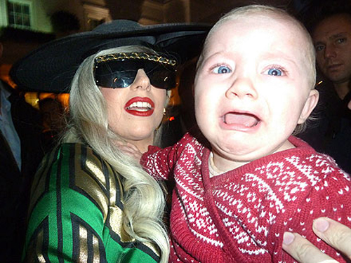 Lady Gaga Terrifies a Baby