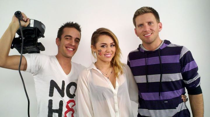 Miley poses for NOH8!