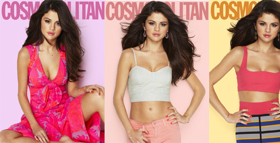 Selena Gomez on the cover of Cosmopolitan Magazine