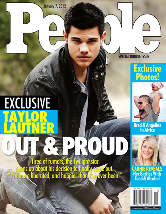 "Taylor Lautner ""Gay"" People Magazine Cover is FAKE"