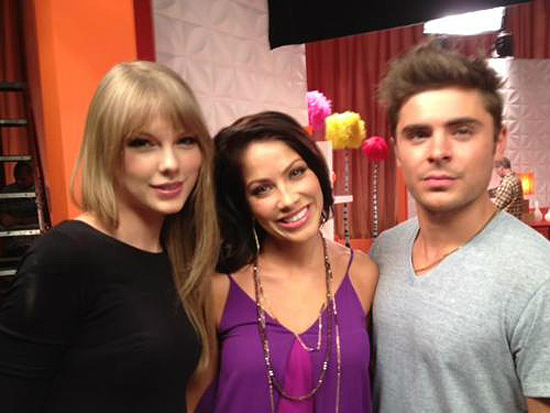 more pictures of Zac + Taylor filming a promo for abcfamily