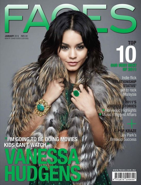 Vanessa Hudgens Covers FACES Magazine Cover January Addition