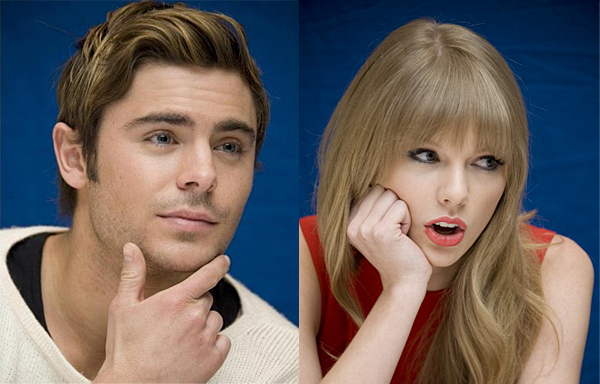 "Zac Efron & Taylor Swift at a press conference for ""The Lorax"" (photos under)"