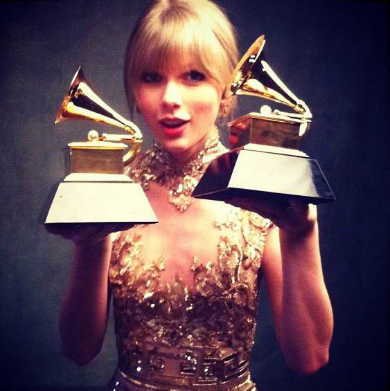 Taylor Swift Takes Home Two Grammy Awards!