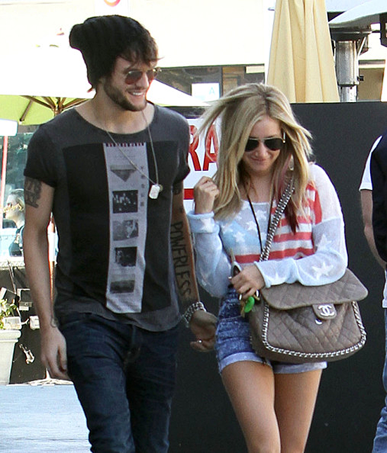 Ashley Tisdale and Martin Johnson out for lunch in Studio City (photos)