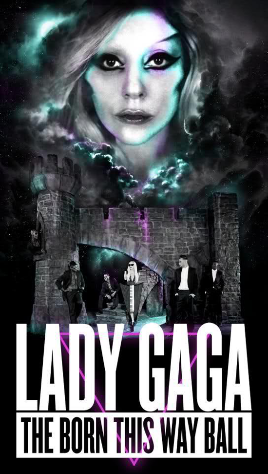 Lady GaGa reveals 'Born This Way Ball': Official World Tour Poster