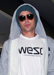 Zac Efron catching a flight out of LAX