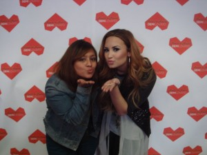 Demi Lovato with her fans at HearttoHeart
