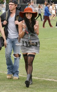 Vanessa Hudgens At Coachella With Austin and Friends