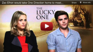 Zac Efron talking about One Direction?