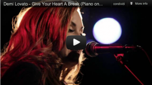 Demi Lovato Give Your Hart A Brake piano version! [video]