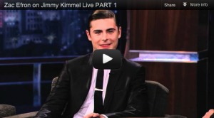Zac Efron on Jimmy Kimmel Live [Video]