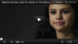 Selena Gomez raises awareness about the crisis in the Sahel
