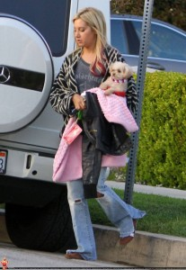 Ashley Tisdale in Toluca Lake [Pics Below]