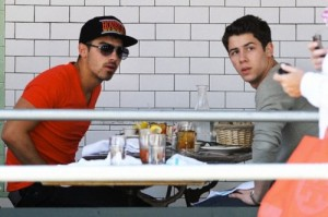 Nick and Joe Jonas New York City Breakfast