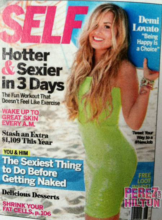 Demi shows off her amazing body on the cover of SELF magazine!