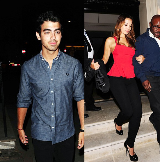 Joe Jonas leaves a club in London with a mystery girl (photos)