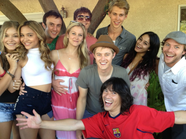 Vanessa Hudgens & Austin Butler seen at a pool party