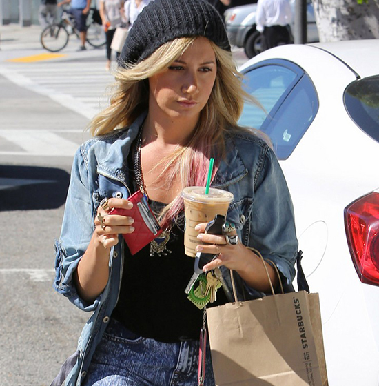 Ashley Tisdale spotted leaving Starbucks (photos under)