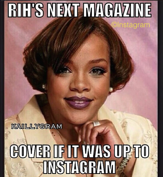 Rihanna's New Boob Flashing Cover Gets Her Banned From Instagram