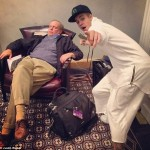 Justin Bieber Poses With A Sleeping Man Without Him Knowing And Shares The Photo Online