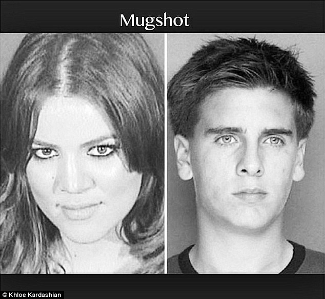 Khloe Kardashian Shares Her's And Scott Disick's Mugshot For His Birthday