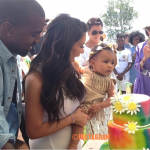 Kim Kardashian Shares First Photo Of North West At 'Kidchella!'