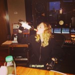 Madonna Downs A Bottel Of Wine In The Recording Studio! See The Proof HERE!