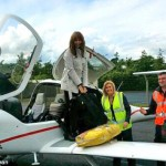Carol Vorderman Fly's Herself Home From The Pride of Ireland Awards in Dublin With Boyfriend Graham Duff