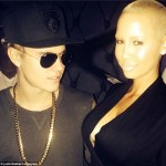 Justin Bieber Just Cant Keep His Eyes Off Amber Rose's Cleavage