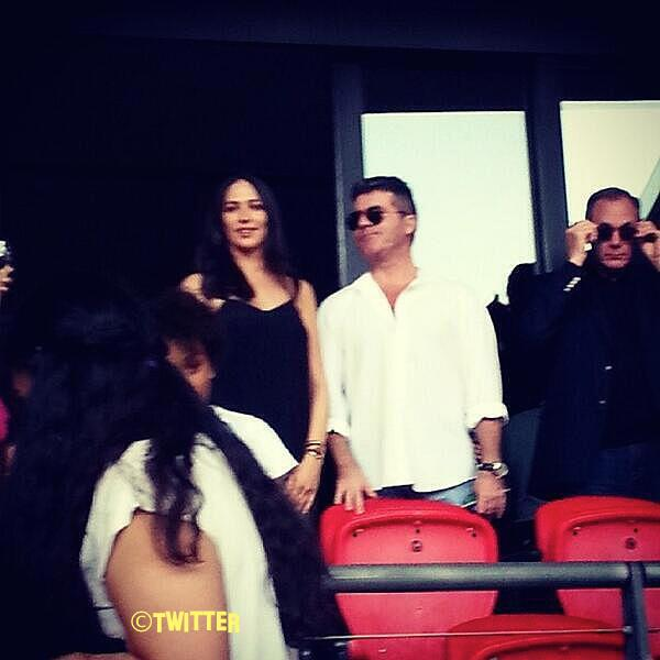 Simon Cowell Attends One Direction's Last Wembley Gig With Girlfriend Lauren Silverman