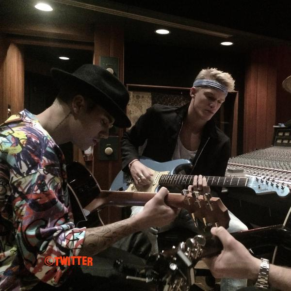 Cody Simpson Shares First Photo Of Him And Justin Bieber In The Recording Studio