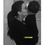 Kim Kardashian Shares Photo Of Her Giving North West A Goodnight Kiss