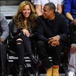 Beyonce and Jay Z at Nets Vs Clippers Game