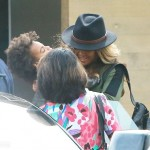 Beyonce, Jay Z and Blue Ivy Arrive at Nobu Restaurant in Malibu