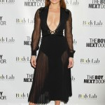 Jennifer Lopez Bares Cleavage at 'The Boy Next Door' New York City Premiere