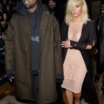Kim Kardashian Wears Complete See-Through Mesh Dress at Lanvin Fashion Show