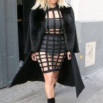 HOT SHOTS: Kim Kardashian Spotted in a Racy Balmain Cage Dress