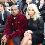 Kim Kardashian and Kanye West Attend Louis Vuitton Show