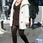 Mariah Carey Wears Diamond-Ruby Necklace With Casual Look in New York City