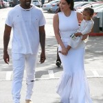 Kim Kardashian & Kanye West take North to Church to Celebrate Easter