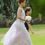 Rihanna at her Personal Assistant's Wedding in Hawaii