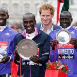 Prince Harry, David and Victoria Beckham Attend London Marathon